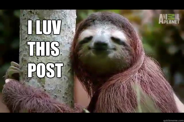 i luv this post - Content Sloth