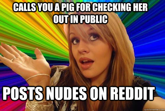 calls you a pig for checking her out in public posts nudes o - Blonde Bitch