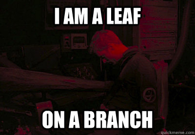 i am a leaf on a branch -