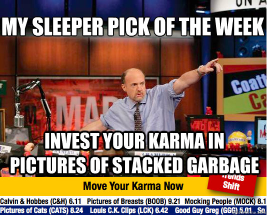 my sleeper pick of the week invest your karma in pictures o - Mad Karma with Jim Cramer