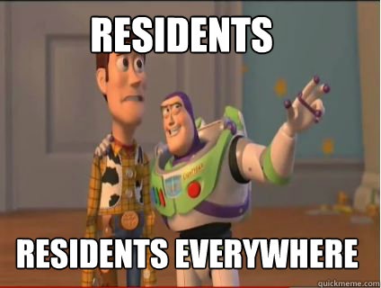 residents residents everywhere - woody and buzz