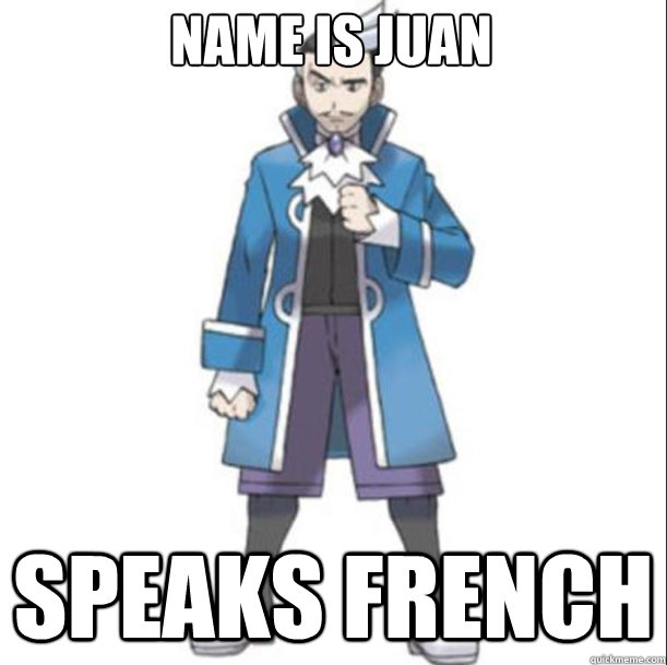 name is juan speaks french -
