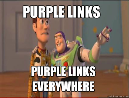 purple links purple links everywhere - woody and buzz