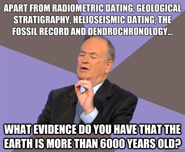 Radioactive dating shows that the earth is