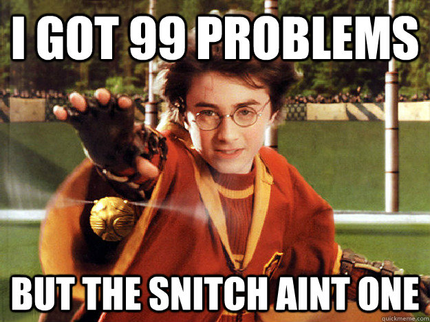 i got 99 problems but the snitch aint one -