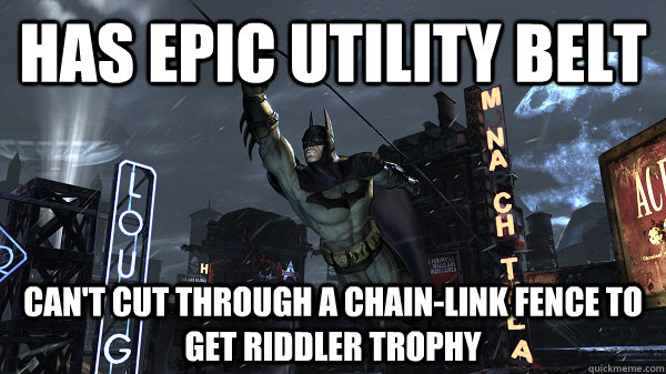 has epic utility belt cant cut through a chainlink fence t - 