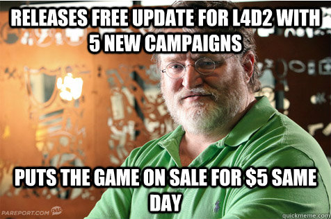 releases free update for l4d2 with 5 new campaigns puts the  - Good Guy Gabe