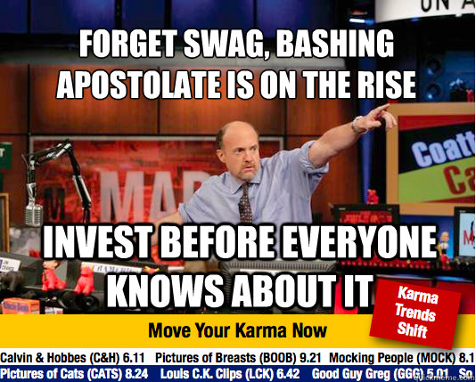 forget swag bashing apostolate is on the rise invest befor - Mad Karma with Jim Cramer