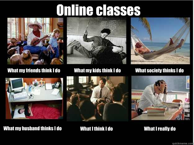 online classes what my friends think i do what my kids think - What People Think I Do