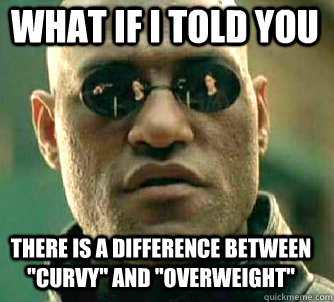 what if i told you there is a difference between curvy and - Matrix Morpheus