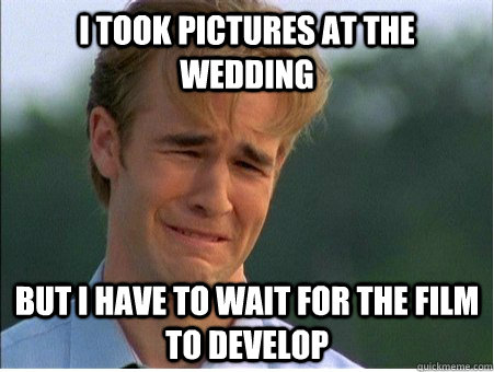 i took pictures at the wedding but i have to wait for the fi - 1990s Problems
