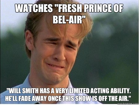 Watches fresh prince of belair Will Smith has a very limited - 1990s Problems