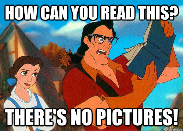 how can you read this theres no pictures - Hipster Gaston