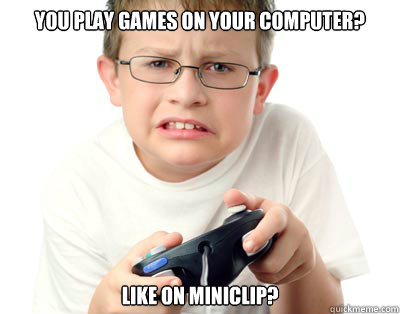 you play games on your computer like on miniclip - Young Video Gamer