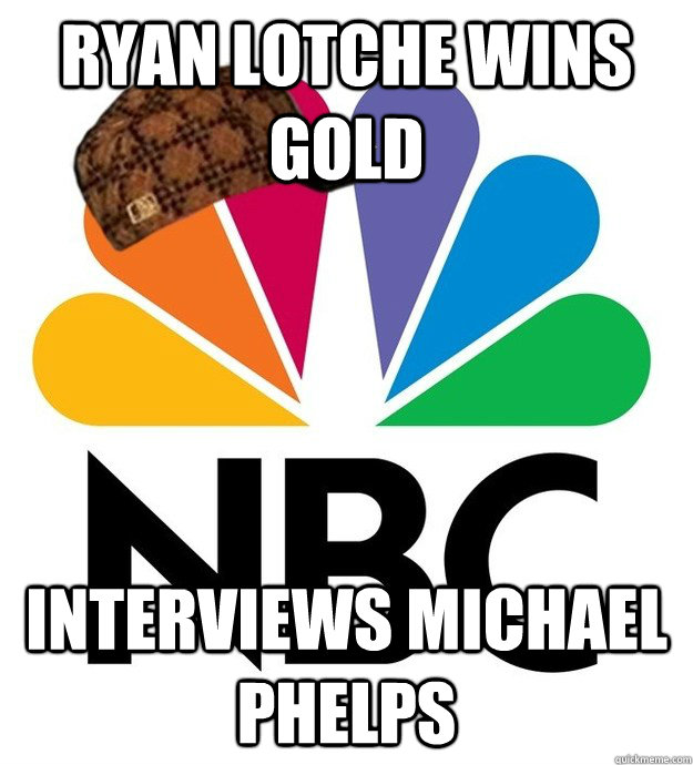 ryan lotche wins gold interviews michael phelps - Scumbag NBC