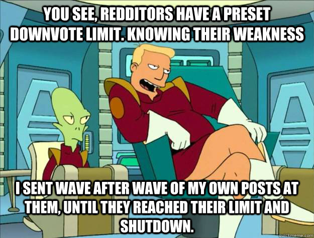 you see redditors have a preset downvote limit knowing the - zappppp
