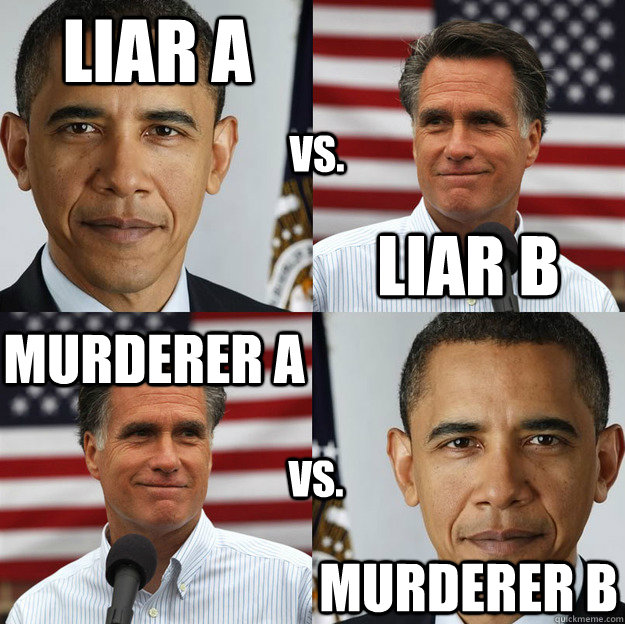 liar a liar b murderer a murderer b vs vs - Wheres the difference