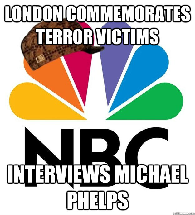 london commemorates terror victims interviews michael phelps - Scumbag NBC