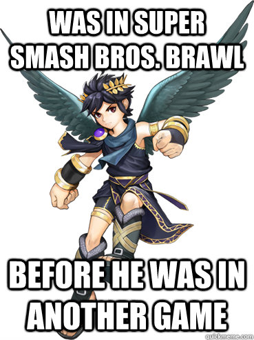 was in super smash bros brawl before he was in another game - 