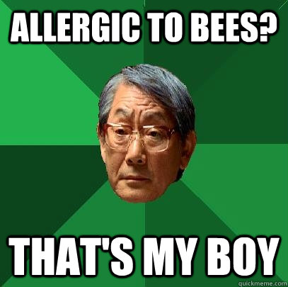 allergic to bees thats my boy - High Expectations Asian Father