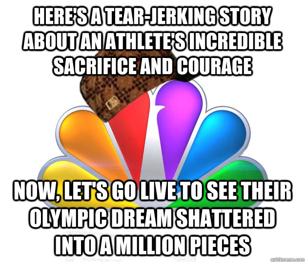 heres a tearjerking story about an athletes incredible sa - Scumbag NBC nbcfail