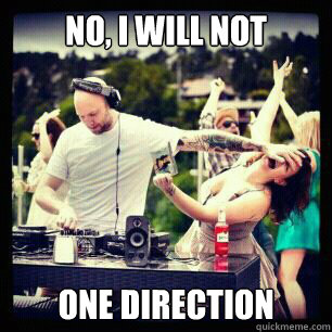 no i will not one direction - call me maybe