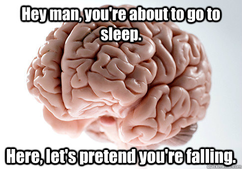 hey man youre about to go to sleep here lets pretend yo - Scumbag Brain