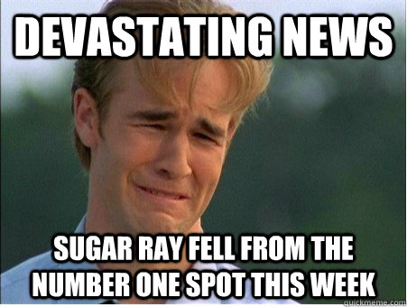 devastating news sugar ray fell from the number one spot thi - 1990s Problems