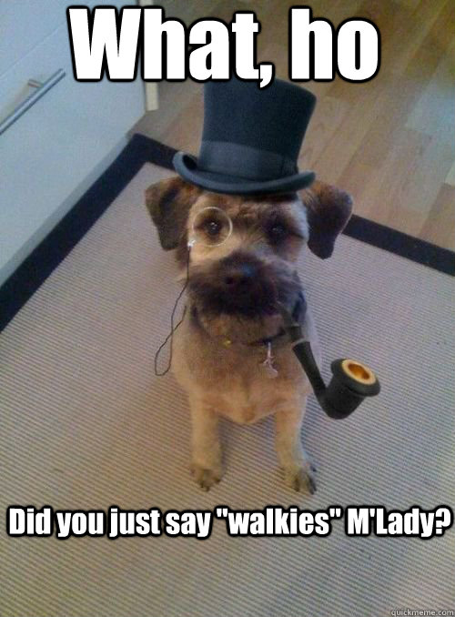 did you just say walkies mlady what ho - Gentleman Dog