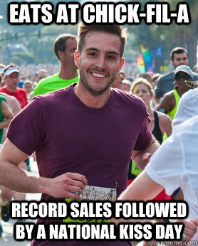 eats at chickfila record sales followed by a national kiss - Ridiculously photogenic guy