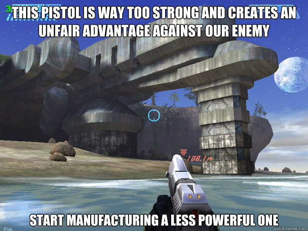 this pistol is way too strong and creates an unfair advantag -