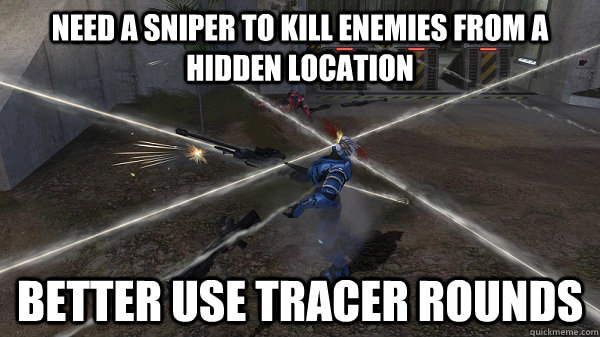 need a sniper to kill enemies from a hidden location better  -
