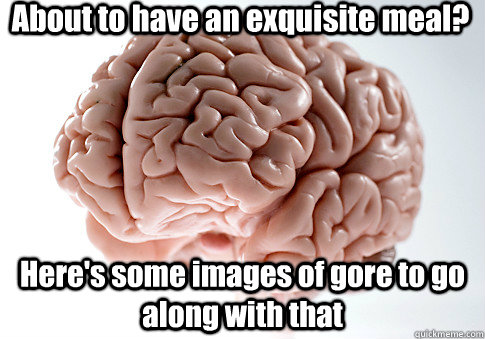 about to have an exquisite meal heres some images of gore  - Scumbag Brain