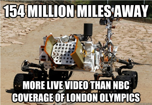 154 million miles away more live video than nbc coverage of  - Mars Curiosity
