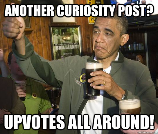 another curiosity post upvotes all around - Upvoting Obama