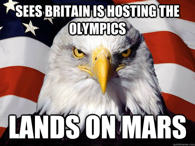 sees britain is hosting the olympics lands on mars - One-up America