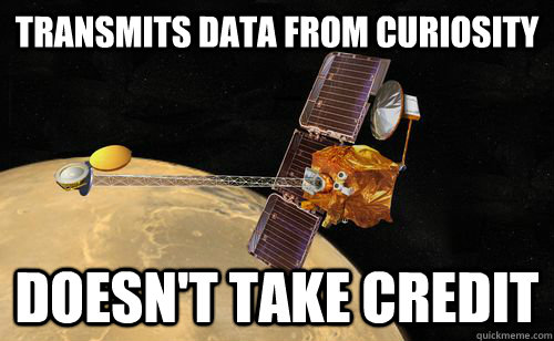 transmits data from curiosity doesnt take credit - Mars Odyssey