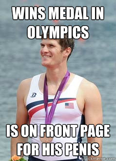 wins medal in olympics is on front page for his penis - Socially Awesome Awkward Henrik