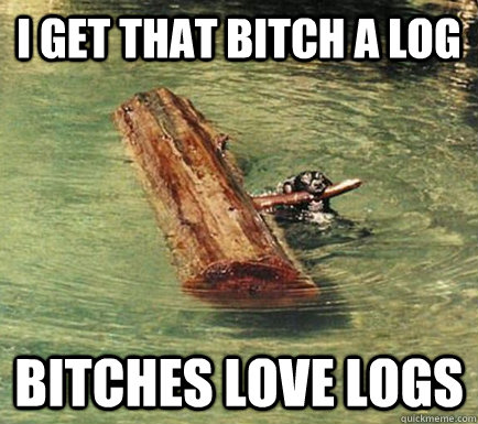 i get that bitch a log bitches love logs - Pimp Dog