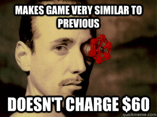 makes game very similar to previous doesnt charge 60 -