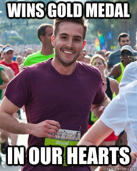 wins gold medal in our hearts - Ridiculously photogenic guy