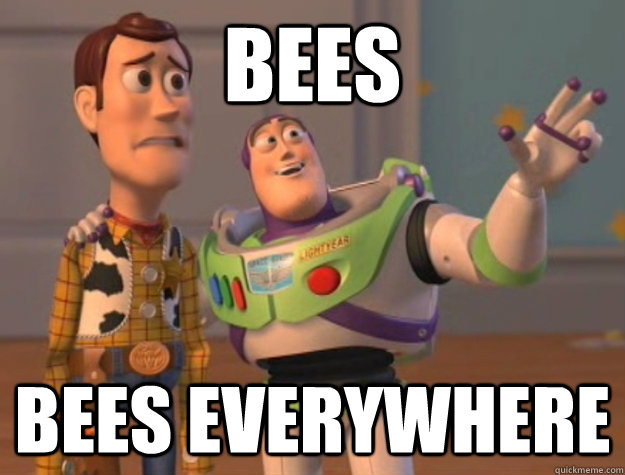 bees bees everywhere - Buzz Lightyear