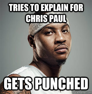 tries to explain for chris paul gets punched - Mad Mello