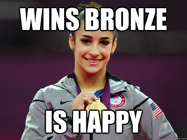 wins bronze is happy - Amiable Aly Raisman