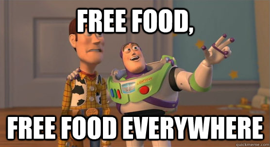 free food free food everywhere - Toy Story Everywhere