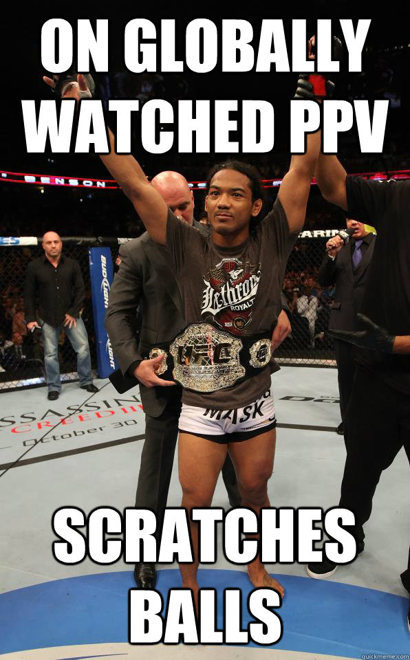 on globally watched ppv scratches balls - DGAF Joe Rogan