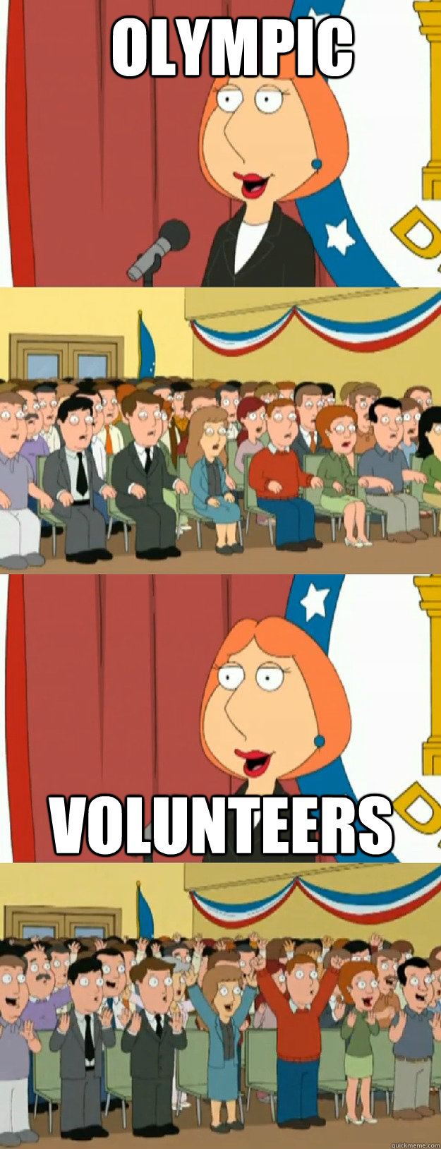 olympic volunteers - Lois Griffin