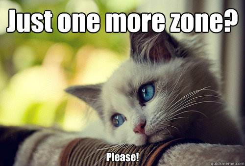 just one more zone please - First World Problems Cat