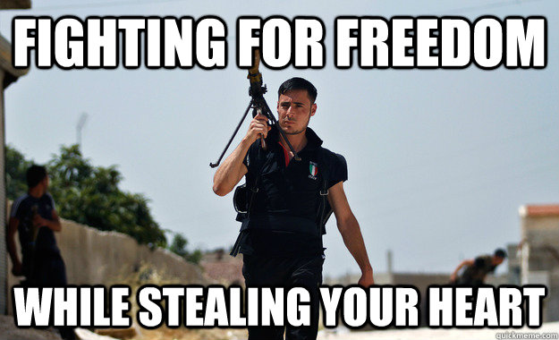 fighting for freedom while stealing your heart - Ridiculously Photogenic Syrian Rebel