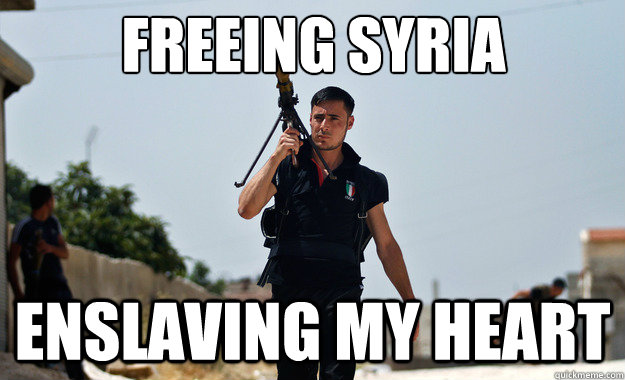 freeing syria enslaving my heart  - Ridiculously Photogenic Syrian Soldier